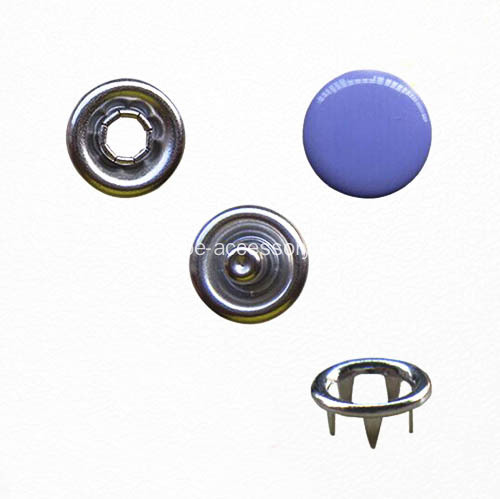 Pulsante Eco-Friendly Prong anello elastico con tinti Cap