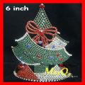Coroa de cristal da representação histórica do Natal bonito, coroa da tiara da árvore de Natal, tiara feita sob encomenda para o Natal