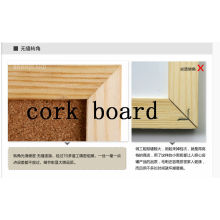 Wooden frame wall message board cork board pictures
