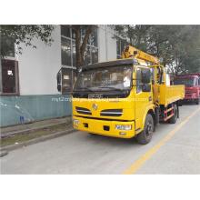Grúa de brazo hidráulico montada en camión DFAC de 5 toneladas