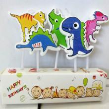 卸売業高品質の誕生日の恐竜キャンドル