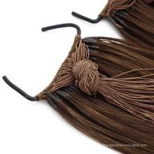 Human Hair Virgin Hair Knot Thread Tied Style Hair Extension Remy Grade Hair