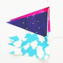 Dois lados Pvc String Party Pennant Bunting