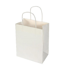 White Kraft Paper Shopping Bag Without Printing