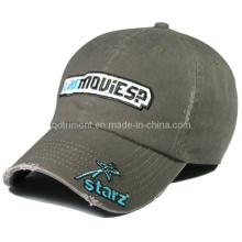 Fashion Grinding Washed Applique Embroidery Sport Baseball Cap (TRNB021)