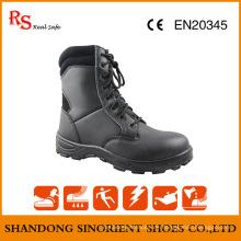 Schwarze Action Leder Günstige Military Stiefel Snf509