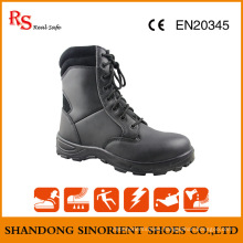 Black Action Leather Cheap Military Boots Snf509
