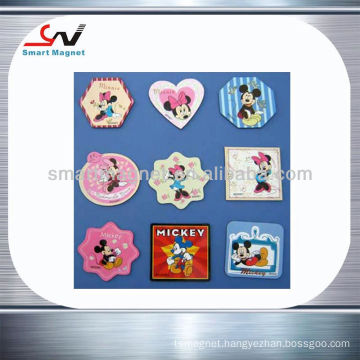 Popular mickey mouse printed fridge magnets