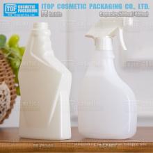 color personalizable hdpe plástico 500ml botellas de spray gatillo para limpiavidrios y otros detergente