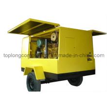 Подвижной воздушный компрессор с вращающимся винтом (TDS-17/7 132кВт)