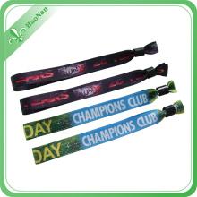 Le meilleur bracelet fait sur commande de tissu tissé de festival de qualité pour des événements