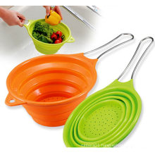 Atoxic Foldable Kitchenware Silicon Basket