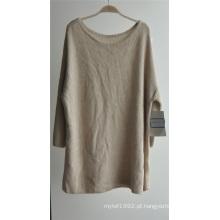 Mulheres em torno do pescoço puro pullover cor malha camisola