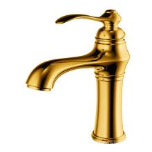 Single-lever basin faucet wash basin tap brass gold