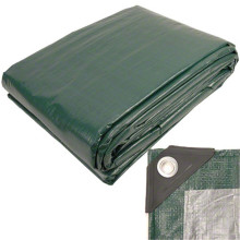 Silver green plastic cover  tarpaulin