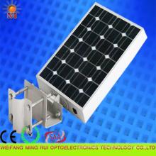 Rendement élevé 5 ans de garantie intégré solaire LED réverbère 20W