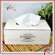 Керамическая прямоугольная крышка коробки для ткани