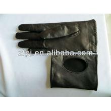 Bester Verkaufsart und weiseschwarzes grundlegende Art lederne Handschuhe im Winter