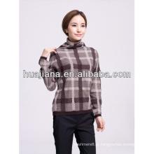 Suéter de mulher 100% cashmere tricô