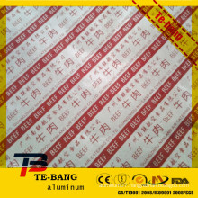laminated aluminium foil Color coated aluminum foil paper for ice cream /chocolate wrapping paper