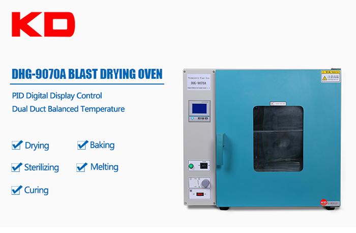 Hot Air Drying Oven With Glass Door