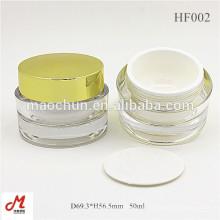 HF002 30г / 50г / 30мл / 50мл пустая круглая косметическая упаковка для кремов