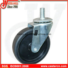 4 Inch Light Duty PP Swivel Caster with 1/2 Threaded Stem