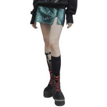 Fashion Women's Serpentine PU leather little A-line Skirt casual dressing OPQ-847BQF
