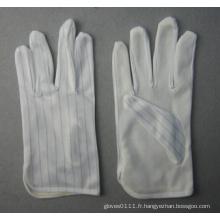 Gant anti-statique léger de travail de coton avec des points de PVC
