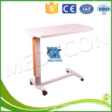 Movable adjustable hospital over bed table