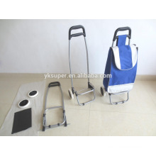 Hot sale easy folding shopping trolley ,shopping cart with bag ,small luggage cart