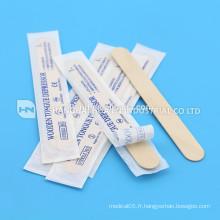 Dépresseur de spatule à la langue médicale sur mesure en bois jetable de haute qualité