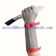 Chain Mail Guantes de acero inoxidable / guante de seguridad de carnicero / guante resistente al corte
