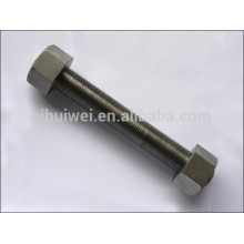 Titanium stud bolt with nuts