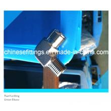 Acero inoxidable macho NPT rosca de tubo de unión Codo Unión