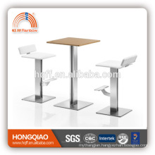 (SS)CV-B116BS white colour fixed bar chair stool chair
