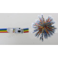a todo color rgb led mini punto luz RGB pixel LED luces punto de interrupción continuo 12mm WS2818
