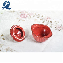Высокое качество дешевой круглой формы цветной приготовления мини керамический суп горшок с крышкой