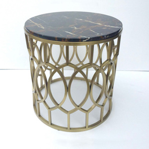 Modern living room gold base coffee table