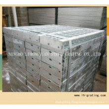 Hot Galvanized Steel Stair Tread with Nosing