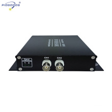 Transmisor-receptor de fibra óptica FC de 2 canales