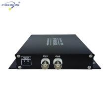 Transceptor de vídeo óptico de fibra de 2 canais FC