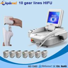 Hifu de alta intensidad enfocada ultrasonido Skin Skin Machine