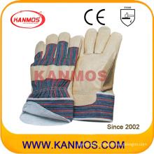 Желтый свиной кожи зерна зимой промышленной безопасности работы перчатки с Джерси (22301)