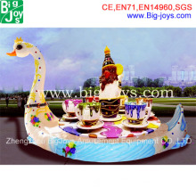 Outdoor Playground Equipment-Swan Carousel Ride