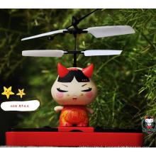 Vente chaude rc volant jouet robot avec lumière