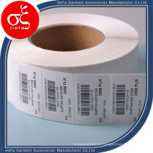 Etiqueta engomada de papel personalizada utilizada para etiqueta colgante