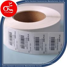 Etiqueta de papel personalizada usada para hangtag