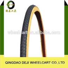 High quality collor soild natural and butyl rubber bicycle tire 26x1-1/2x2