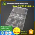 Прозрачные пластиковые яйца упаковка лоток